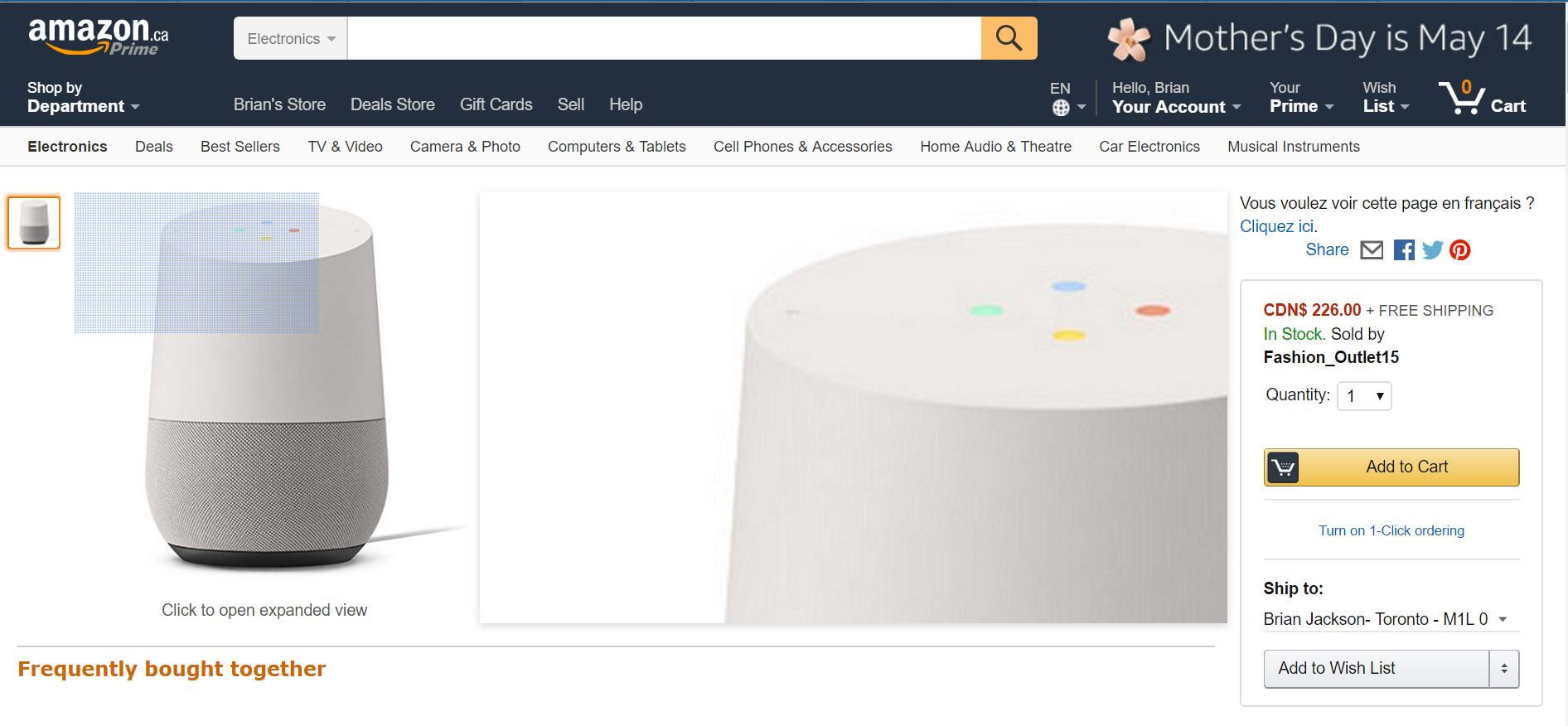 Amazon-Canada_GoogleHome