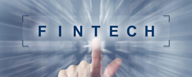 fintech or Financial technology button